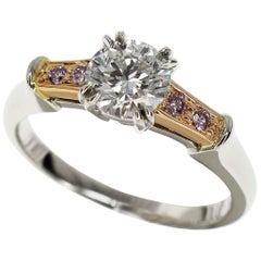 Harry Winston Diamond Pink Diamond Platinum 18 Karat Pink Gold Tryst Ring