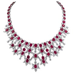 Harry Winston Diamond, Pink Sapphire and Ruby Necklace