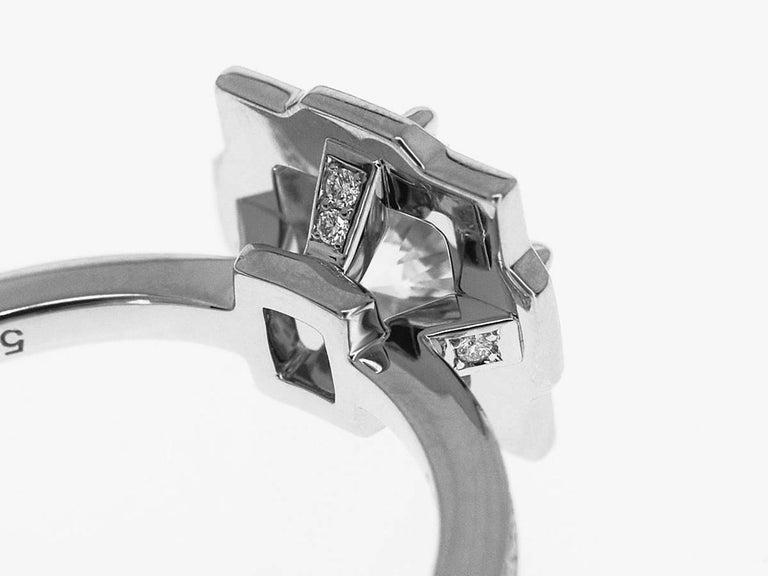 Harry Winston Diamond Platinum Belle by Harry Winston Micropavé Ring US 3.5 For Sale 1