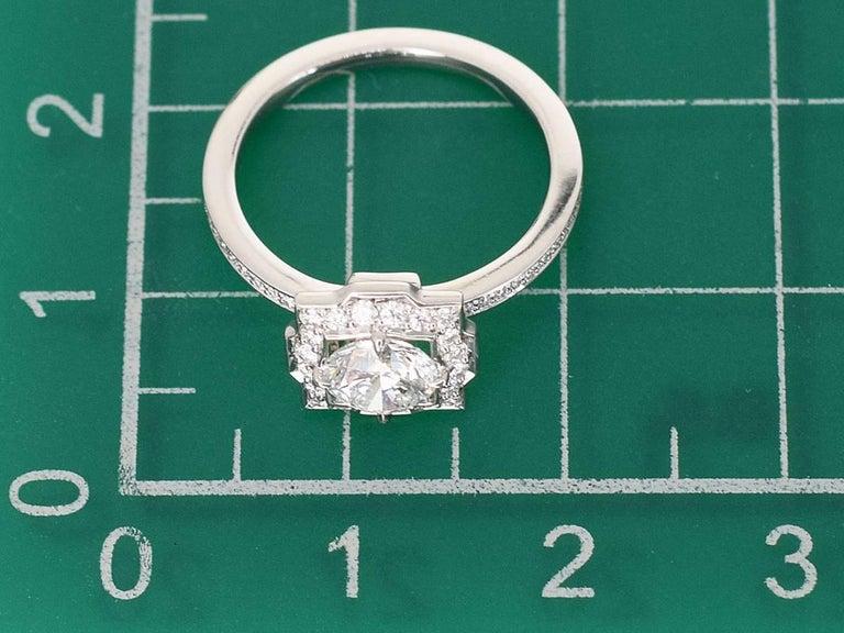Harry Winston Diamond Platinum Belle by Harry Winston Micropavé Ring US 3.5 For Sale 4