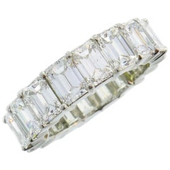 Harry Winston Diamond Platinum Eternity Band Ring