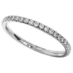 Harry Winston Diamond Platinum Eternity Micropave Band Ring