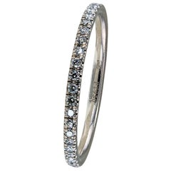 Harry Winston Diamond Platinum Eternity Ring Size 5.75