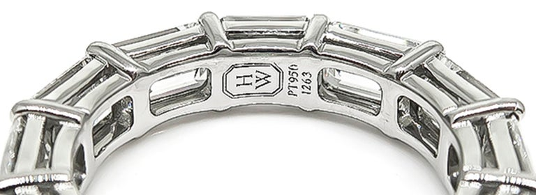 Harry Winston Diamond Platinum Eternity Wedding Band 3