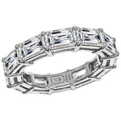 Harry Winston Diamond Platinum Eternity Wedding Band