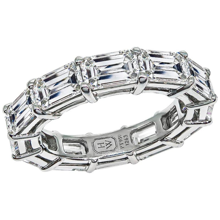 Harry Winston Diamond Platinum Eternity Wedding Band 1