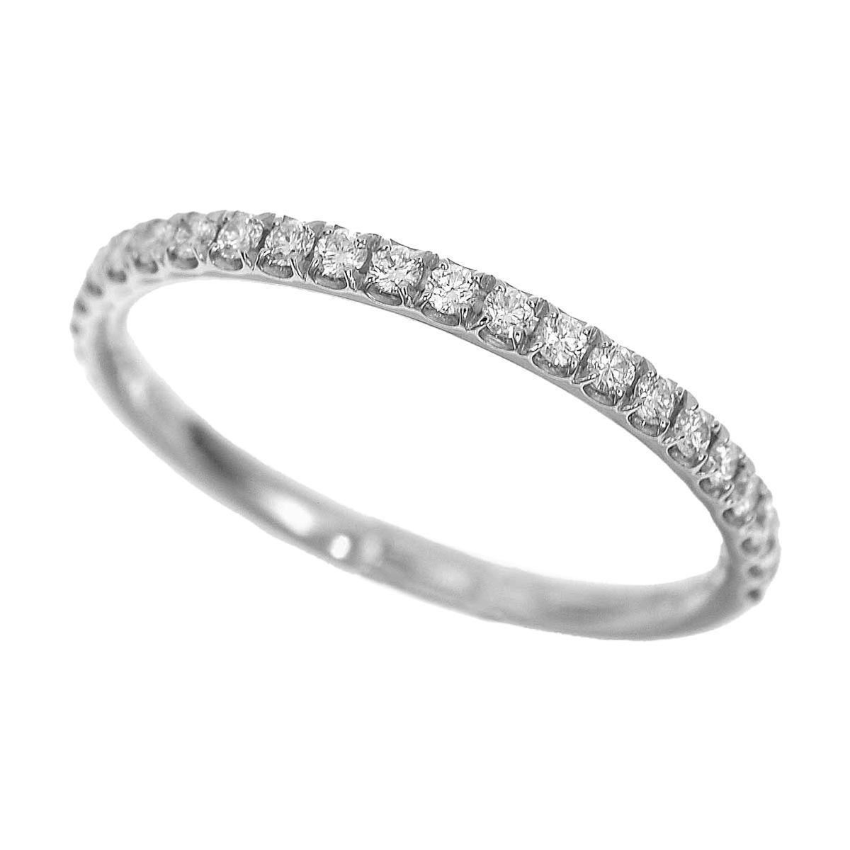 Harry Winston Diamond Platinum Half Eternity Micropave Band Ring US 3
