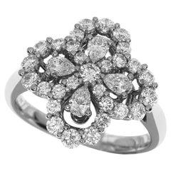 Harry Winston Diamond Platinum Loop by Harry Winston Full Motif Mini Ring