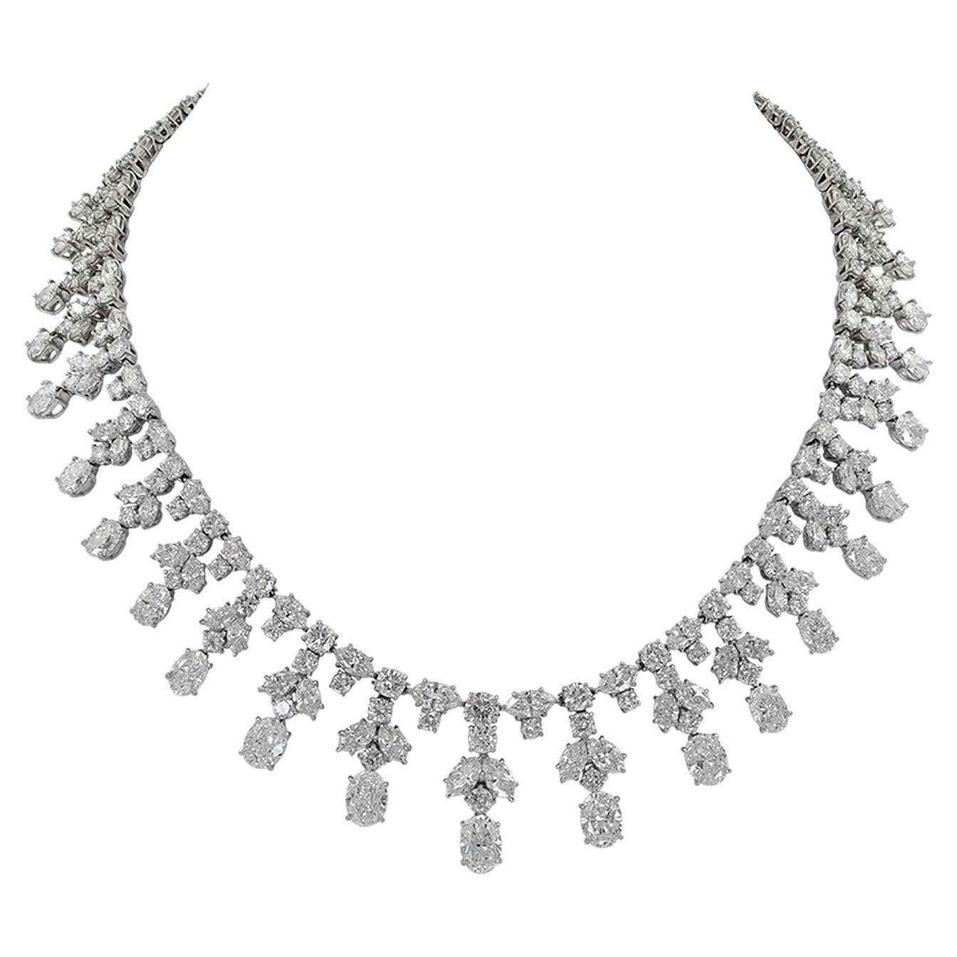 Harry Winston Diamond Platinum Necklace