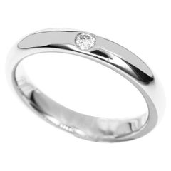 Harry Winston Diamond Platinum Round Marriage Ring