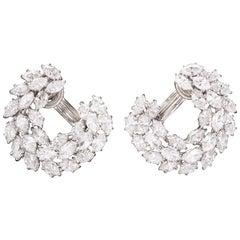 Harry Winston Diamond Reef Earrings