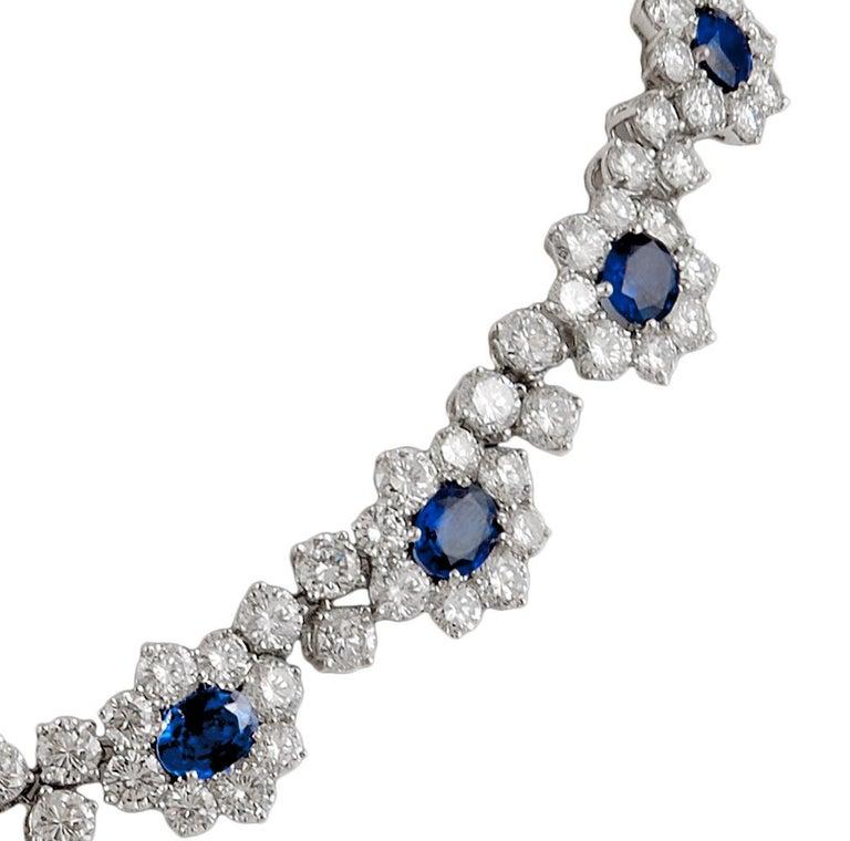Women's Harry Winston Diamond, Sapphire Necklace For Sale