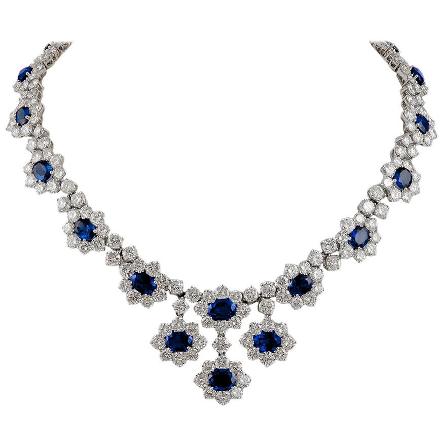 Harry Winston Diamond, Sapphire Necklace