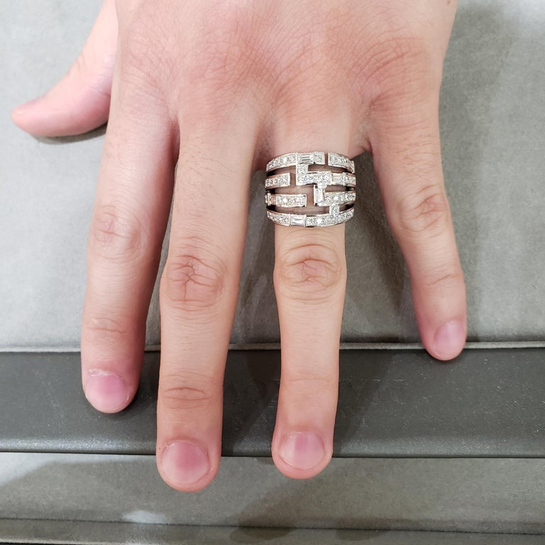 Harry Winston Diamond Traffic Ring For Sale 1