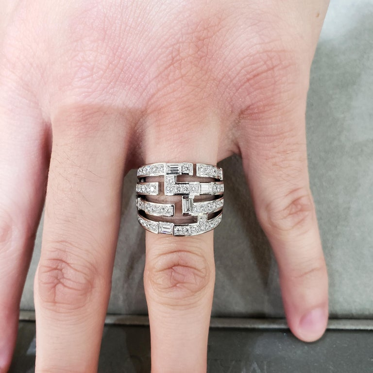 Harry Winston Diamond Traffic Ring For Sale 2