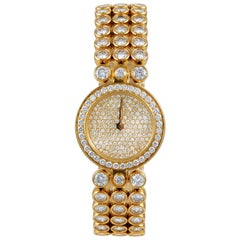 Harry Winston ladies yellow gold Diamond Quartz Wristwatch