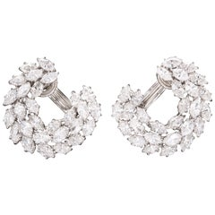 Harry Winston Diamond Wreath Earrings