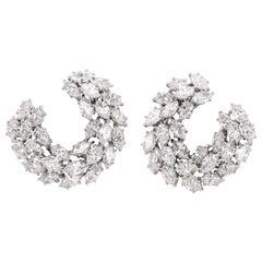Harry Winston Diamond Wreath Earrings