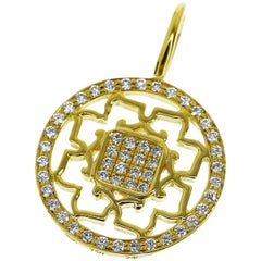 Harry Winston Diamonds 18 Karat Yellow Gold Peony Charm