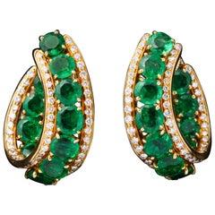 Harry Winston Emerald and Diamond Earrings