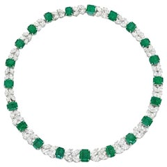 Harry Winston Emerald and Diamond Necklace