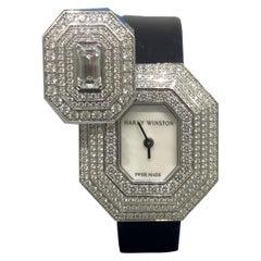 Harry Winston Emerald Signature White Gold Diamond Ladies Watch 542/LQWL.M/02