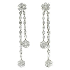 "Harry Winston ""Fotget- Me- Not"" Diamond Earrings"