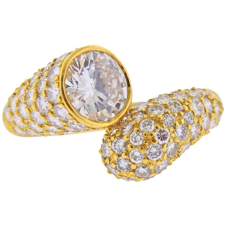 Harry Winston GIA 2.24 Carat D VVS2 Diamond Gold Ring For Sale