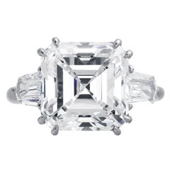Harry Winston GIA Certified 8.02 Carat G/VS1 Engagement Ring