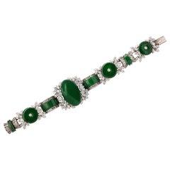 Harry Winston GIA Certified Jade Diamond Very Important and Rare Bracelet