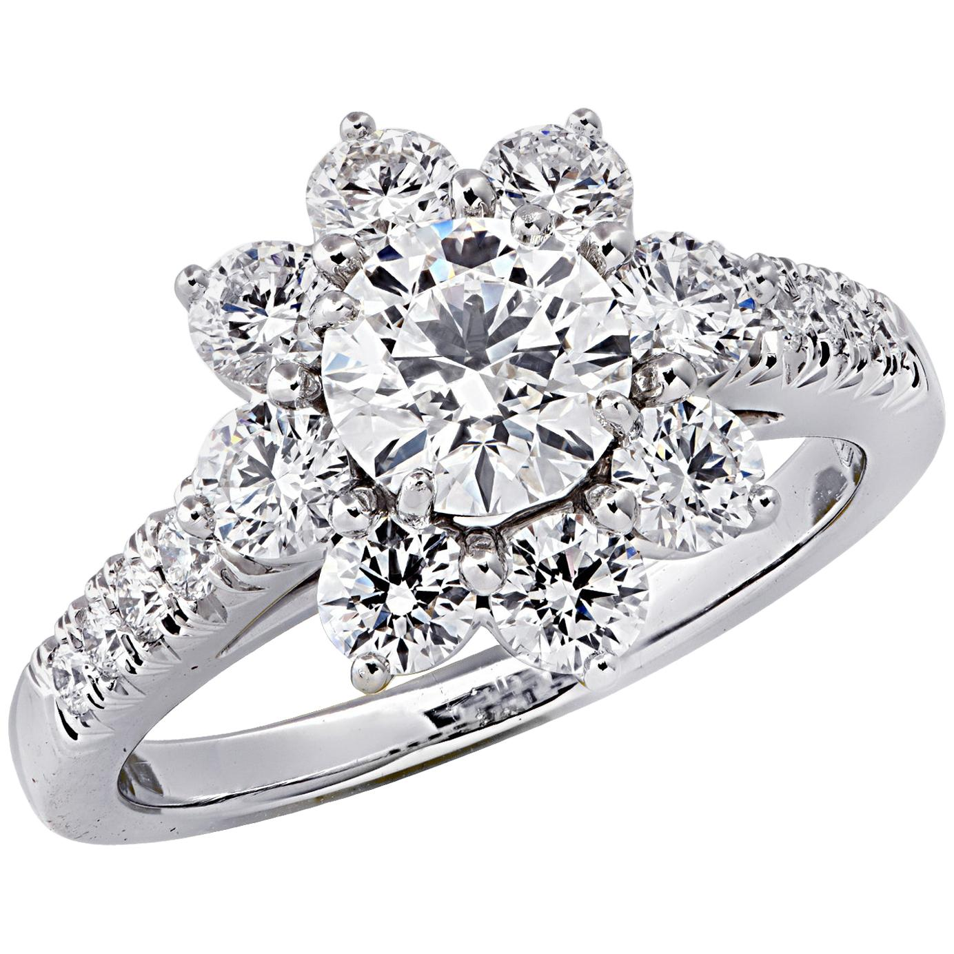 Winston Cluster Medium Diamond Ring