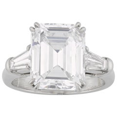Harry Winston Golconda 5.56 Carat Emeral-Cut Diamond Ring