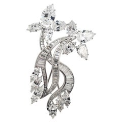"Harry Winston ""Jacques Timey"" Diamond Brooch Platinum"