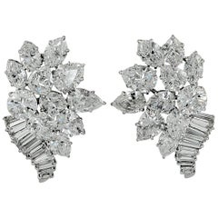 Harry Winston Jacques Timey Diamond Cluster Earrings