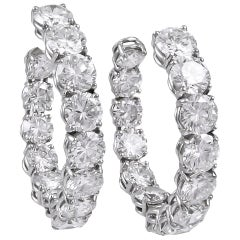 Harry Winston Jacques Timey Diamond Hoop Earrings