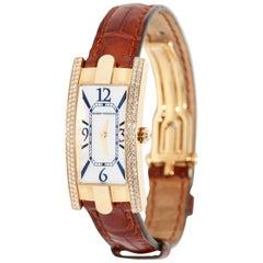 Harry Winston Lady Avenue, 18 Karat Gold, Ladies Wrist Watch, Diamonds, MOP