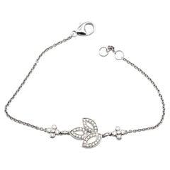 Harry Winston Lily Cluster Platinum Diamond Bracelet Retail $5,200