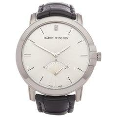 Harry Winston Midnight 0 MIDARS42-2 Men's White Gold Retrograde Watch