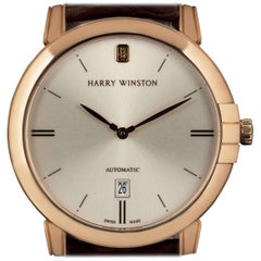 Harry Winston Midnight Rose Gold Silver Dial MIDAHD42RR001 Automatic Watch