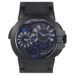 Harry Winston Ocean Dual Time Black Edition OCEATZ44ZZ007