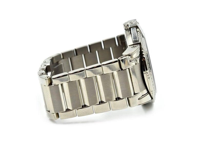 Harry Winston Ladies Stainless Steel Diamond Ocean Sport Watch Ref 411.LQ36Z In Excellent Condition For Sale In Scottsdale, AZ