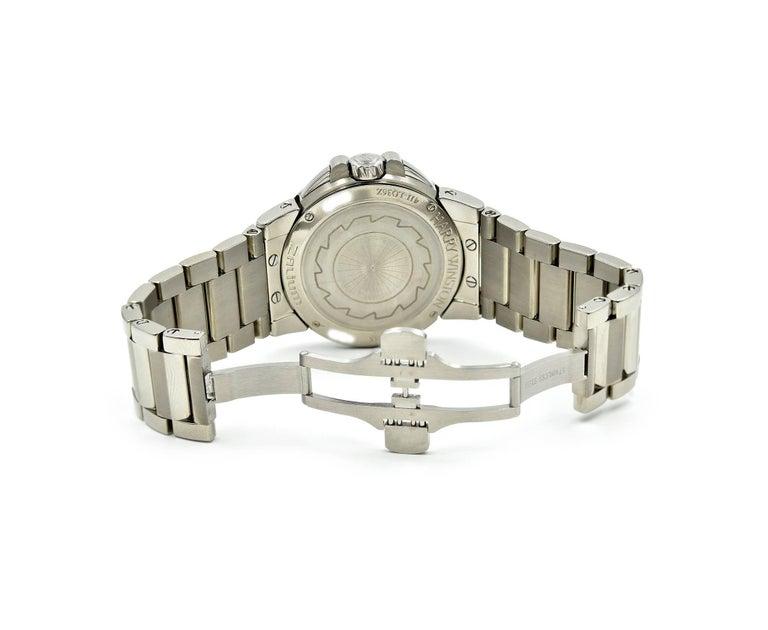 Women's or Men's Harry Winston Ladies Stainless Steel Diamond Ocean Sport Watch Ref 411.LQ36Z For Sale