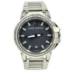 Harry Winston Ladies Stainless Steel Diamond Ocean Sport Watch Ref 411.LQ36Z