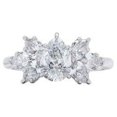 Harry Winston Pear Shape Diamond Engagement Ring