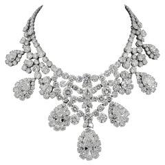 Harry Winston Pear-Shaped Diamond Necklace