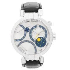 Harry Winston White Gold Perpetual Calendar Premier Excenter Auto Wristwatch