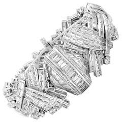 Harry Winston Piece Unique Platinum Diamond Watch Bracelet