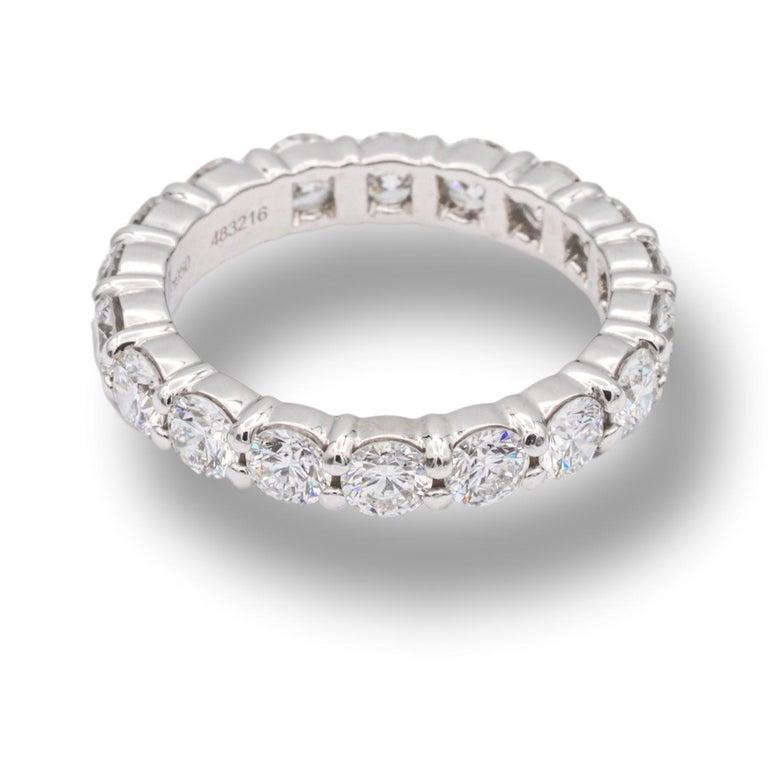 Modern Harry Winston Platinum Diamond Eternity Anniversary Ring 1.93 CTW