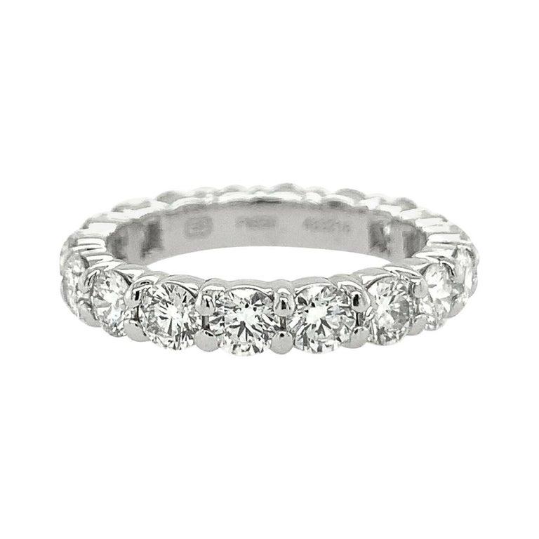 Harry Winston Platinum Diamond Eternity Anniversary Ring 1.93 CTW
