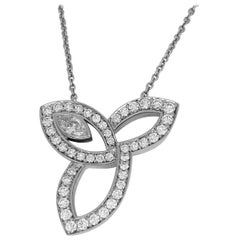 Harry Winston Platinum Lily Cluster by Harry Winston Pendant Necklace